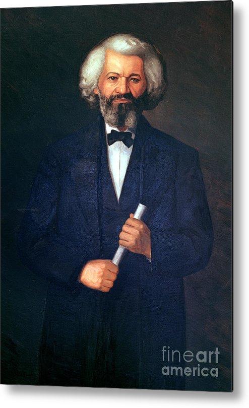 Portrait Of Frederick Douglass (1817-95) (oil On Canvas) By American School (19th Century) Metal Print featuring the painting Portrait Of Frederick Douglass by American School
