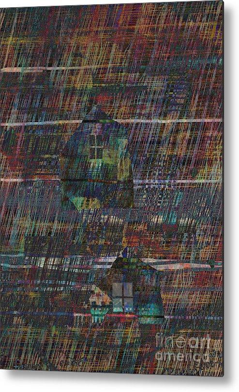 Rain Metal Print featuring the digital art Purple Rain by Andy Mercer