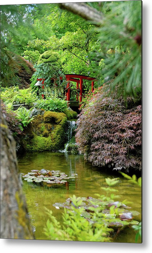Garden Metal Print featuring the photograph Quiet Time 9228 by David Mosby
