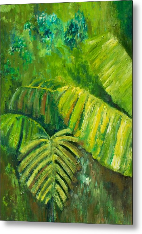 Rain Forest Metal Print featuring the painting Rain Forest by Carol P Kingsley