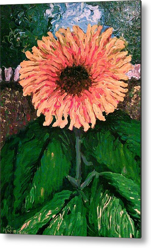 Impressionist Sunflower Metal Print featuring the painting Resurrection by Frank Morrison