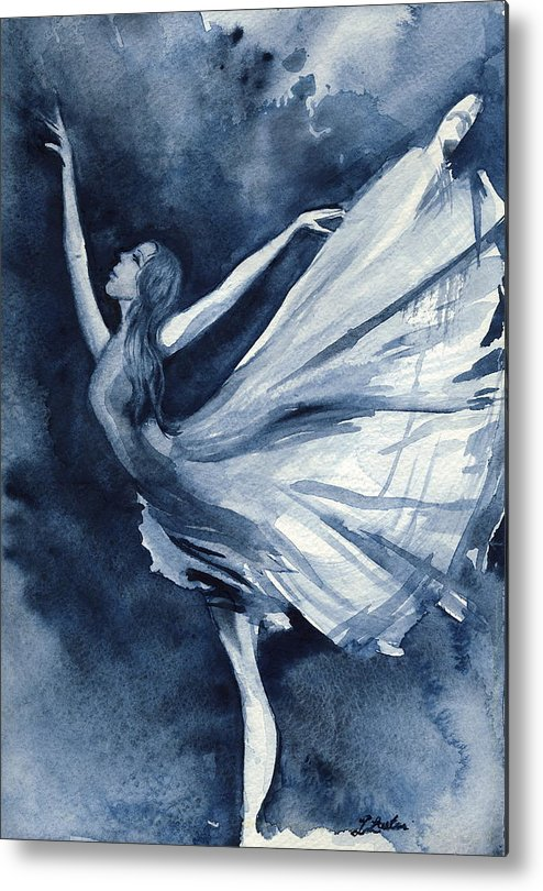 Ballet Metal Print featuring the painting Rhapsody In Blue by L Lauter
