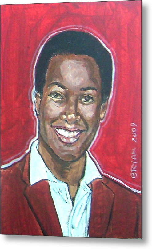 Sam Cooke Metal Print featuring the painting Sam Cooke by Bryan Bustard