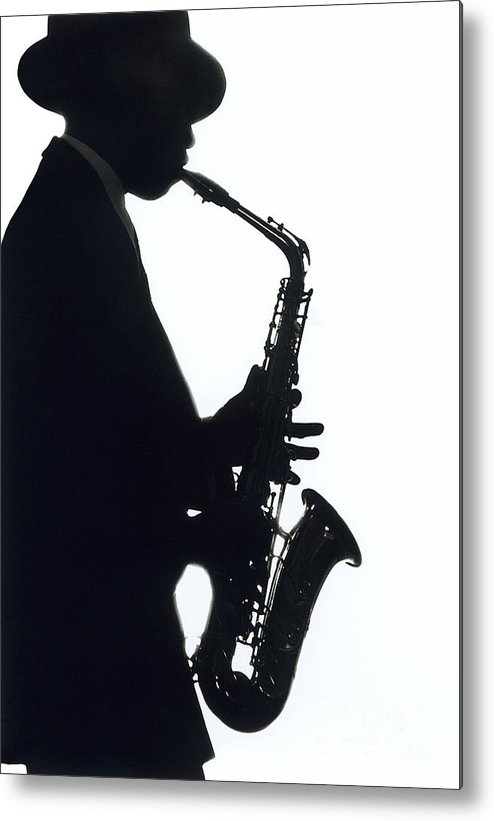 Sax Metal Print featuring the photograph Sax 2 by Tony Cordoza