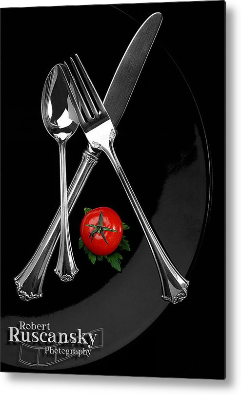 Product Sliverware Metal Print featuring the photograph Silverware by Robert Ruscansky