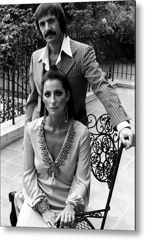 1970s Fashion Metal Print featuring the photograph Sonny & Cher, Sonny Top, Cher Bottom by Everett