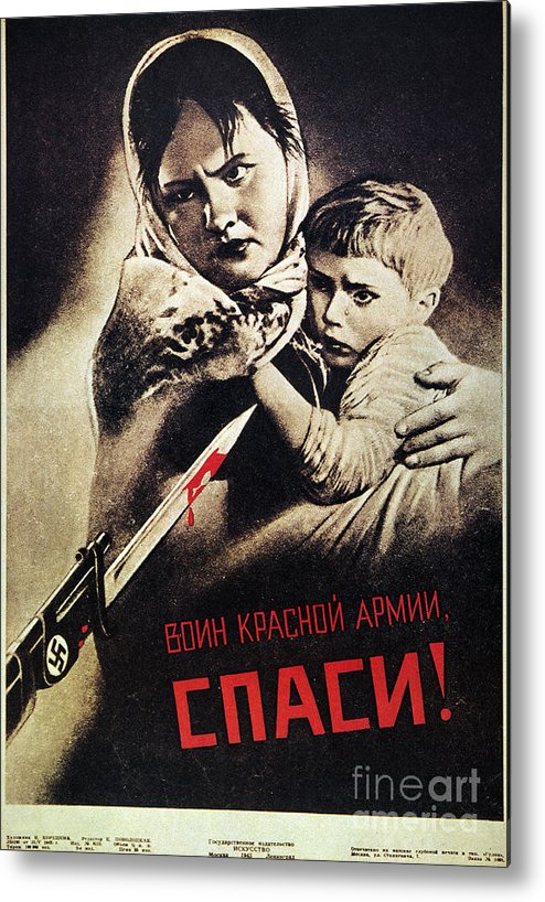 1942 Metal Print featuring the photograph Soviet Poster, 1942 by Granger