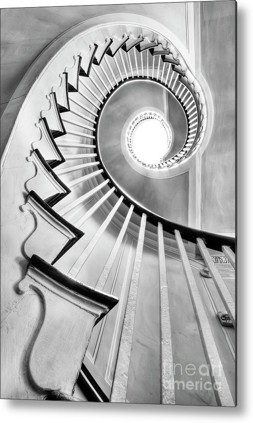 Spiral Staircase Metal Print featuring the photograph Spiral Staircase Lowndes Grove by Dustin K Ryan