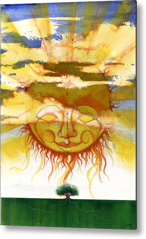 Sun Metal Print featuring the mixed media Sun1 by Anthony Burks Sr