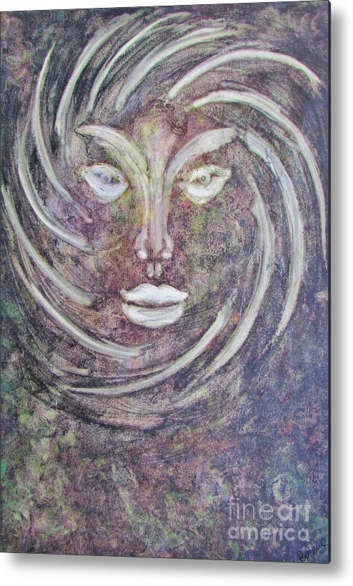 Beautiful Image Metal Print featuring the painting The Eyes Of The World by Bozena Simeth