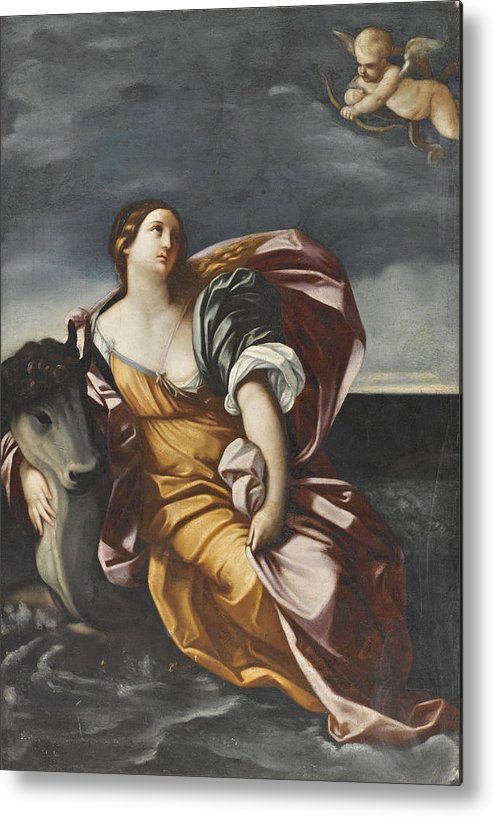 After Guido Reni Metal Print featuring the painting The Rape Of Europa by After Guido Reni