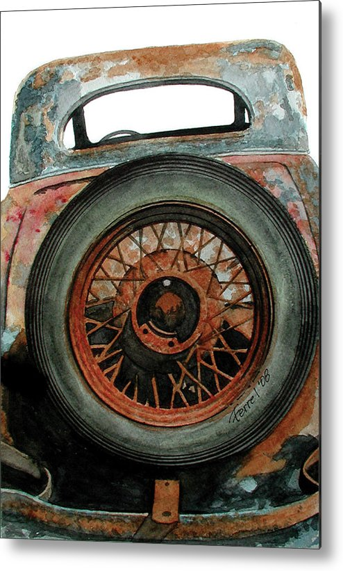 Car Metal Print featuring the painting Tired by Ferrel Cordle