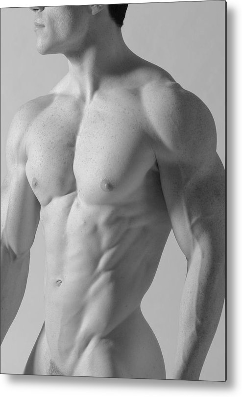Nude Metal Print featuring the photograph Torso C by Dan Nelson