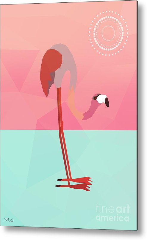 Flamingo Metal Print featuring the painting Tropical Flamingo by Mark Ashkenazi