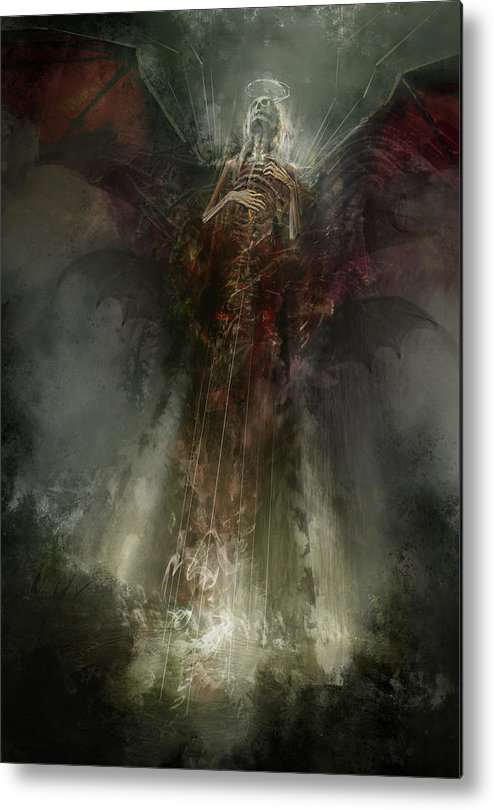 Utherworlds Metal Print featuring the painting Utherworlds The Clouding by Philip Straub