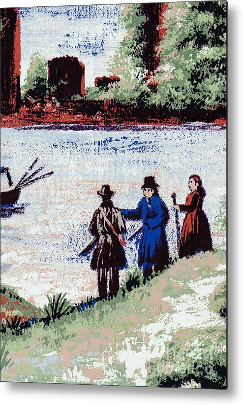 Writermore Metal Print featuring the mixed media Waters Edge by Writermore Arts