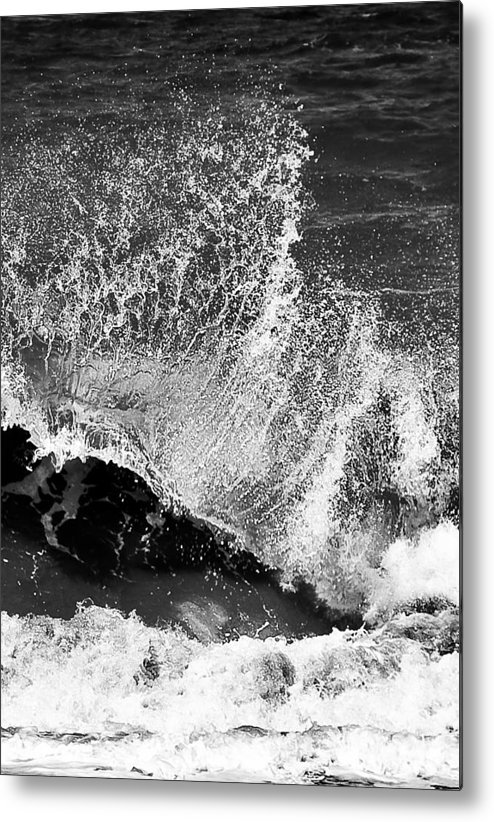 Water Metal Print featuring the photograph Wave Texture by Patrick Flynn