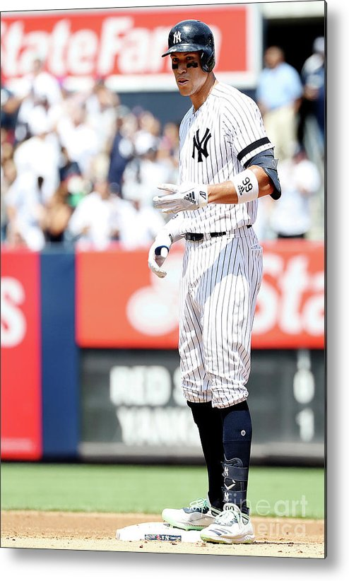 People Metal Print featuring the photograph Boston Red Sox V New York Yankees - 4 by Elsa
