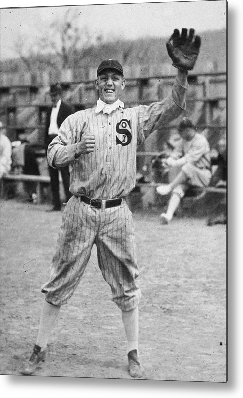 People Metal Print featuring the photograph Buck Weaver Is Ready To Catch A Ball by Apa