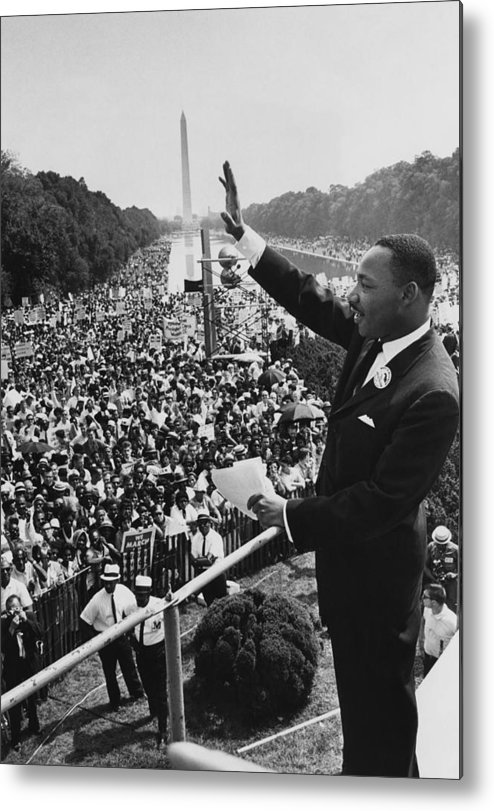 Crowd Metal Print featuring the photograph I Have A Dream by Hulton Archive