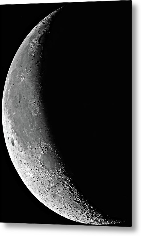 Moon Metal Print featuring the painting The Waning Moon by Cosmic Photo