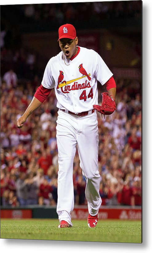 St. Louis Cardinals Metal Print featuring the photograph Chris Stewart by David Welker