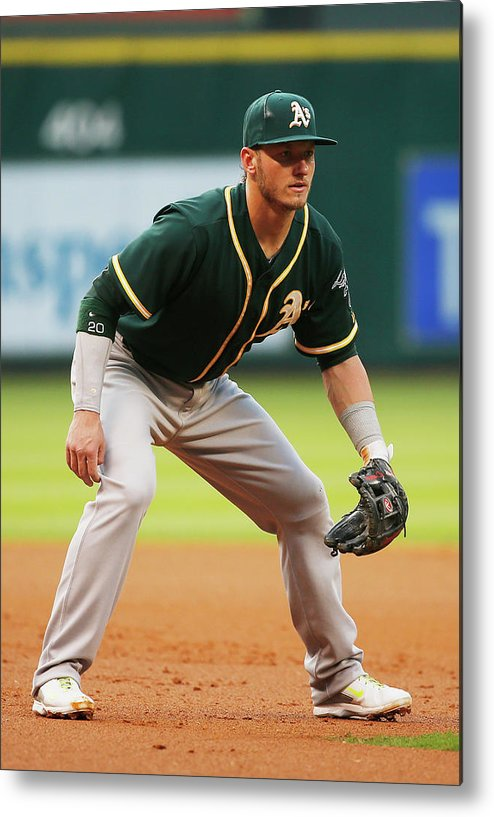 American League Baseball Metal Print featuring the photograph Josh Donaldson by Scott Halleran