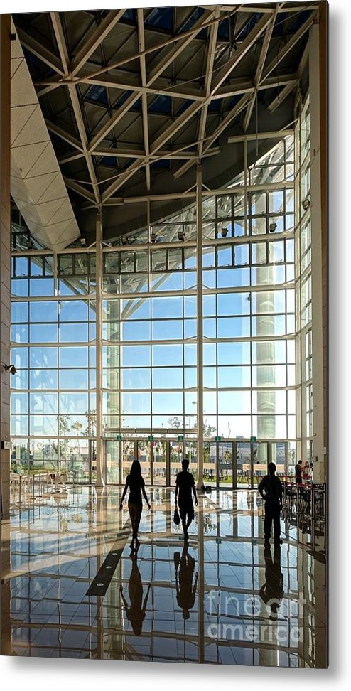 Kaohsiung Metal Print featuring the photograph The New Kaohsiung Exhibition Center by Yali Shi