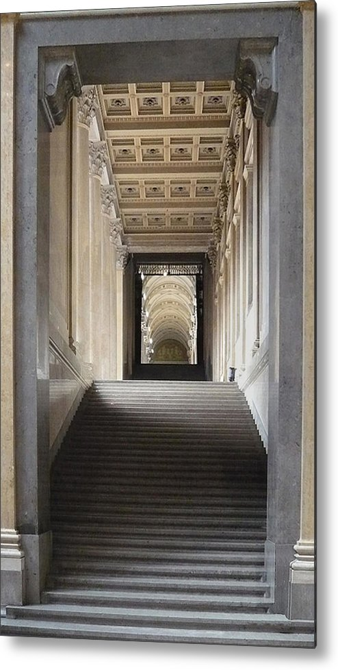 Metal Print featuring the pyrography A Stair To The Beyond by Joseph Amanzio