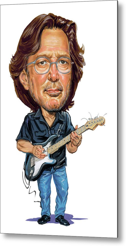 Eric Clapton Metal Print featuring the painting Eric Clapton by Art