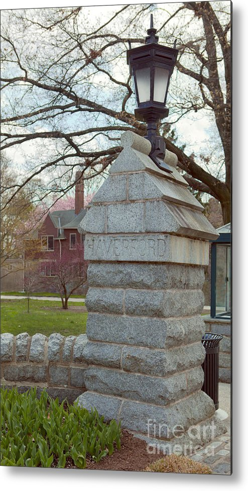 Haverford College Metal Print featuring the photograph Haverford College Entrance by Kay Pickens