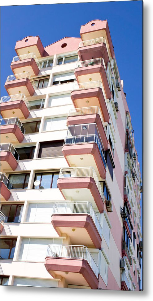 Accomodation Metal Print featuring the photograph Apartment Building by Tom Gowanlock