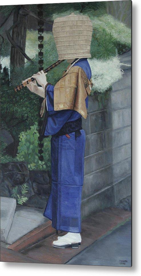 Komuso Metal Print featuring the painting Komuso by Masami Iida