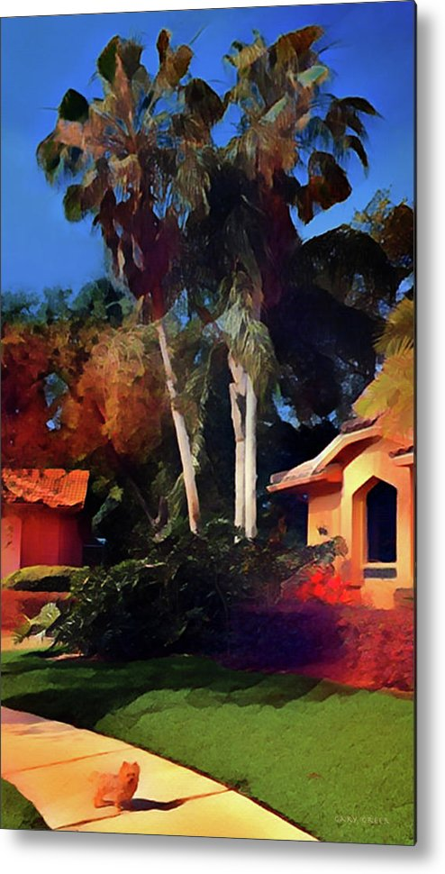 Dog Metal Print featuring the digital art Dog's House by Gary Greer