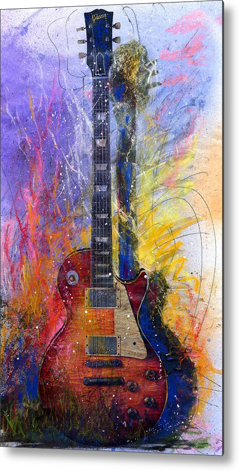 Watercolor Metal Print featuring the painting Fun With Les by Andrew King