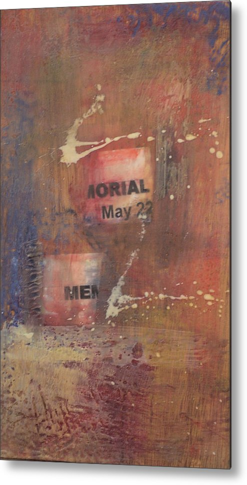 Abstract Metal Print featuring the painting Memorial Day 2008 by Kevin Stevens