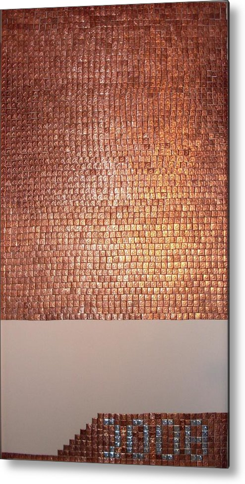 Copper Metal Print featuring the mixed media Mers by Grant Van Driest