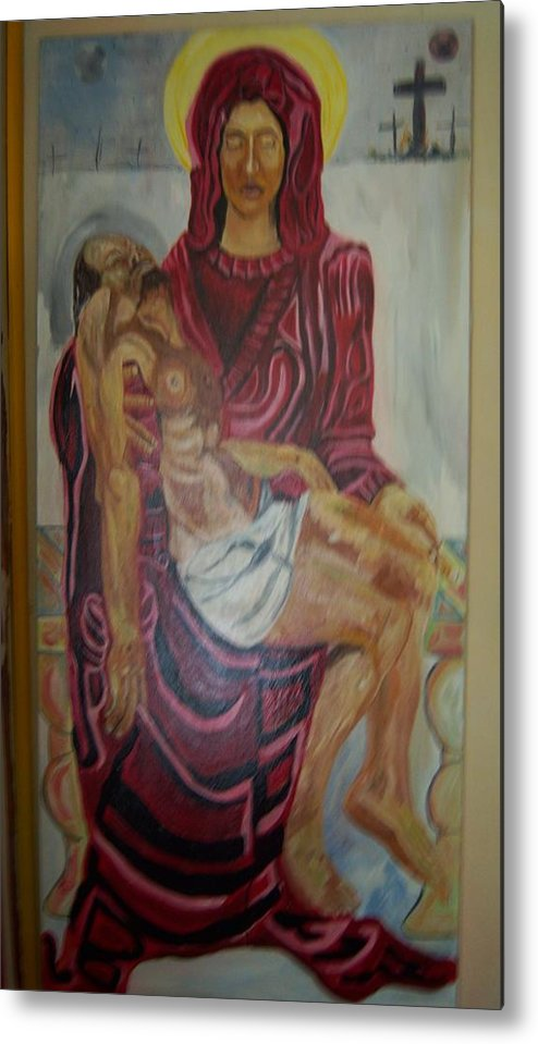 Mother Metal Print featuring the painting Mother And Child by Dominic Angarano