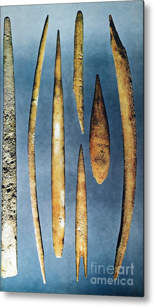 10000 Metal Print featuring the photograph Paleolithic Spears by Granger