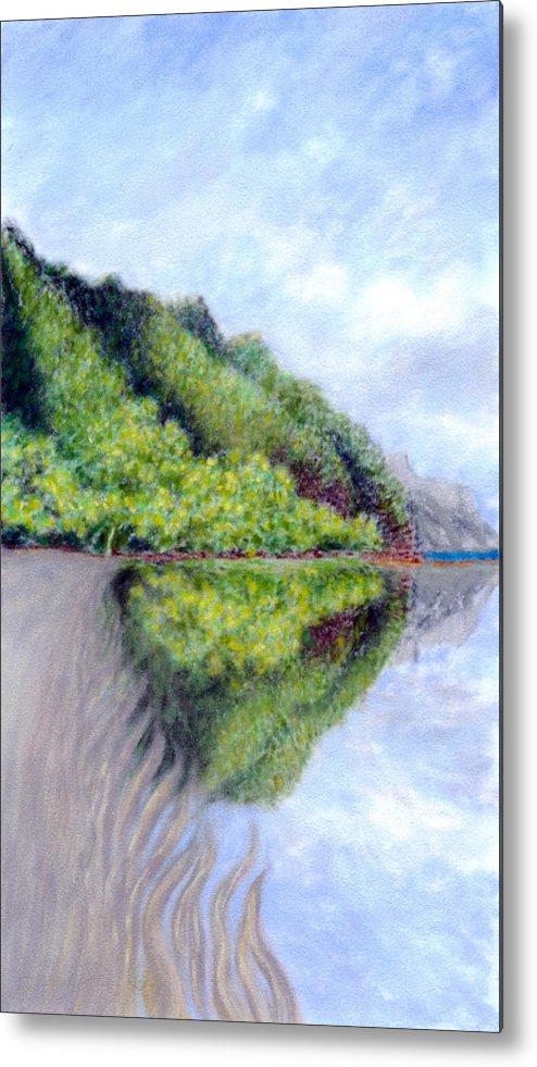 Coastal Decor Metal Print featuring the painting Reflection by Kenneth Grzesik