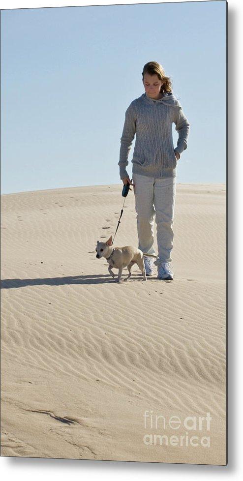 Sand Metal Print featuring the photograph Sand Walk by Tara Lynn