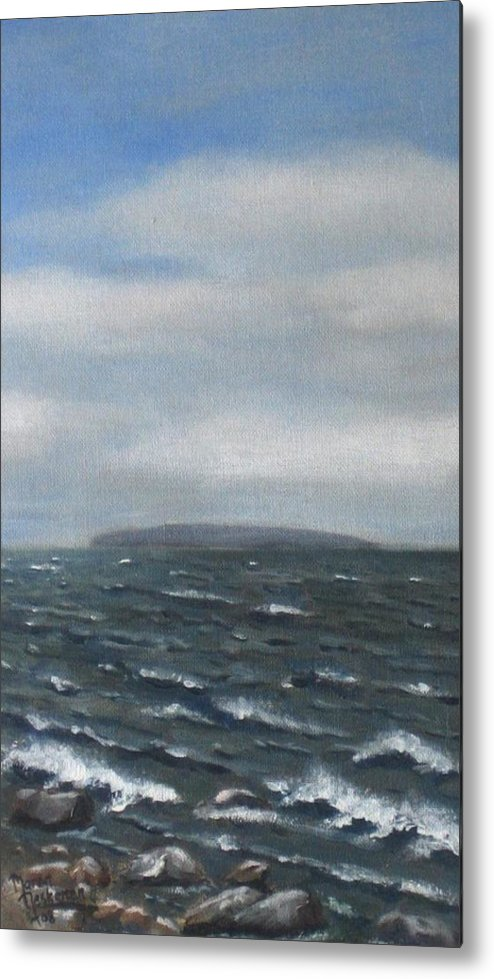 Water Metal Print featuring the painting Surge by Maren Jeskanen