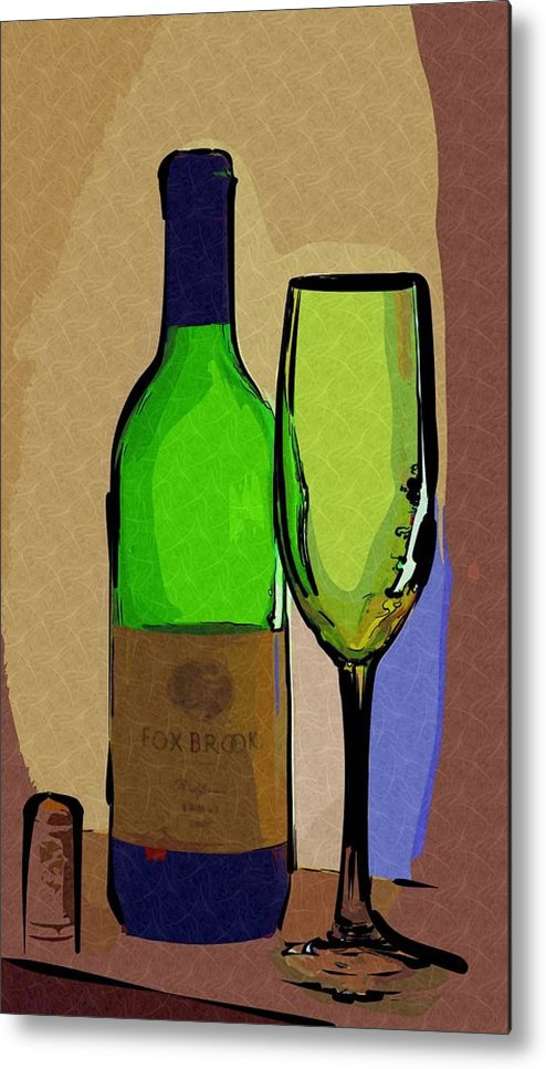 Wine Metal Print featuring the photograph Wine And Glass by Donna Bentley