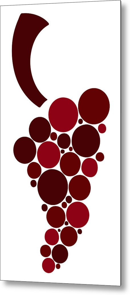 Wine Metal Print featuring the painting Wine Grape by Frank Tschakert