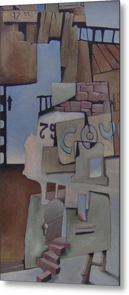 Surreal Metal Print featuring the painting 79w92nd St by Michael Irrizary-Pagan