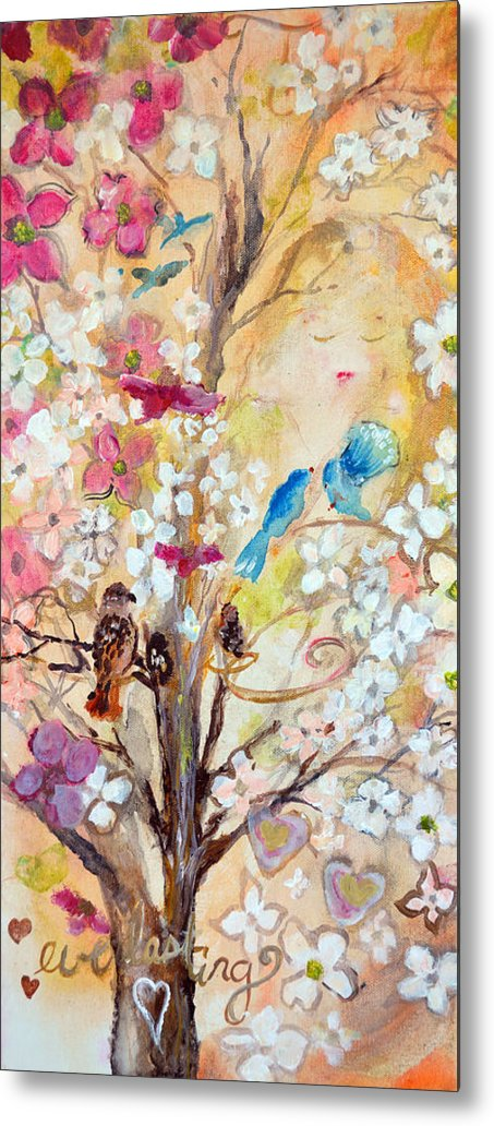 Dogwood Metal Print featuring the painting Love Everlasting by Ashleigh Dyan Bayer