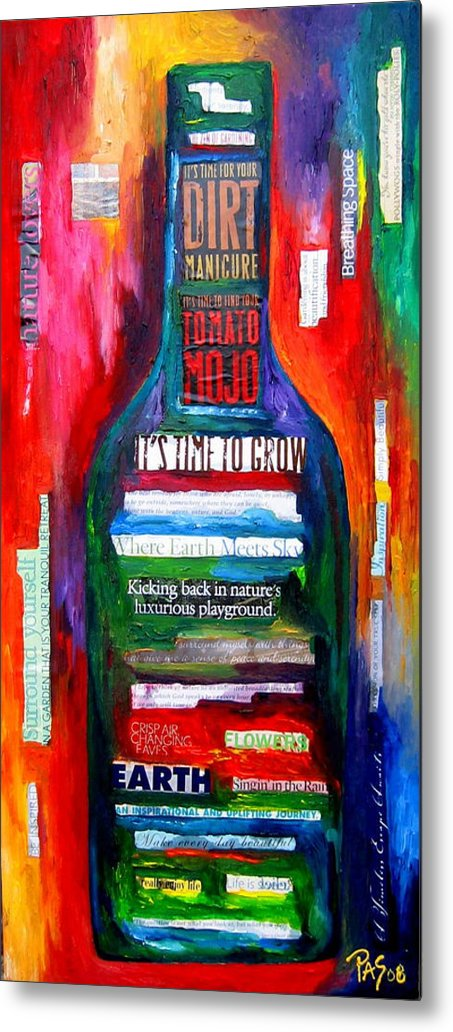 Wine Metal Print featuring the painting Playing In The Dirt by Patti Schermerhorn