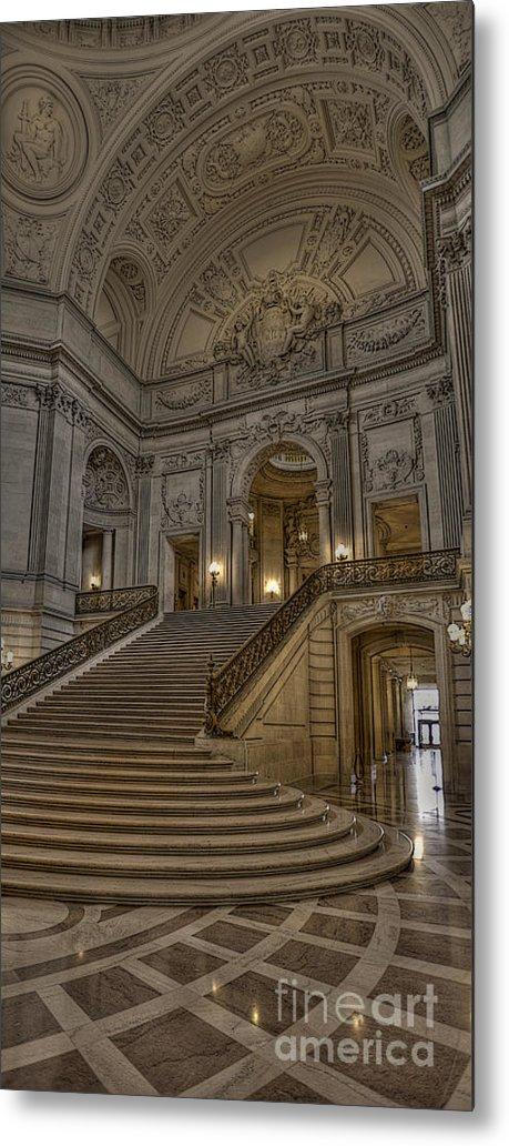 San Francisco Metal Print featuring the photograph San Fran City Hall by David Bearden