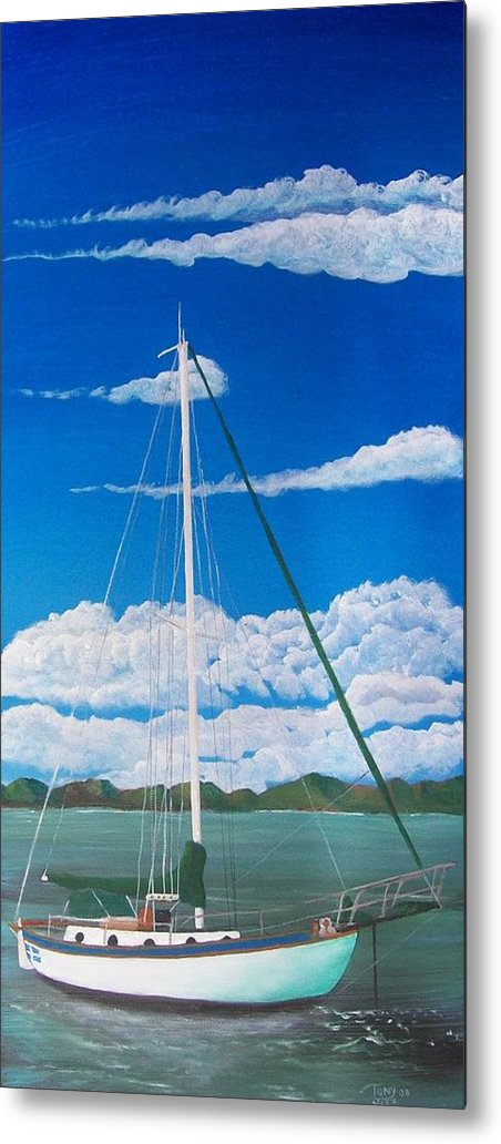 Anchored Metal Print featuring the painting Anchored by Tony Rodriguez