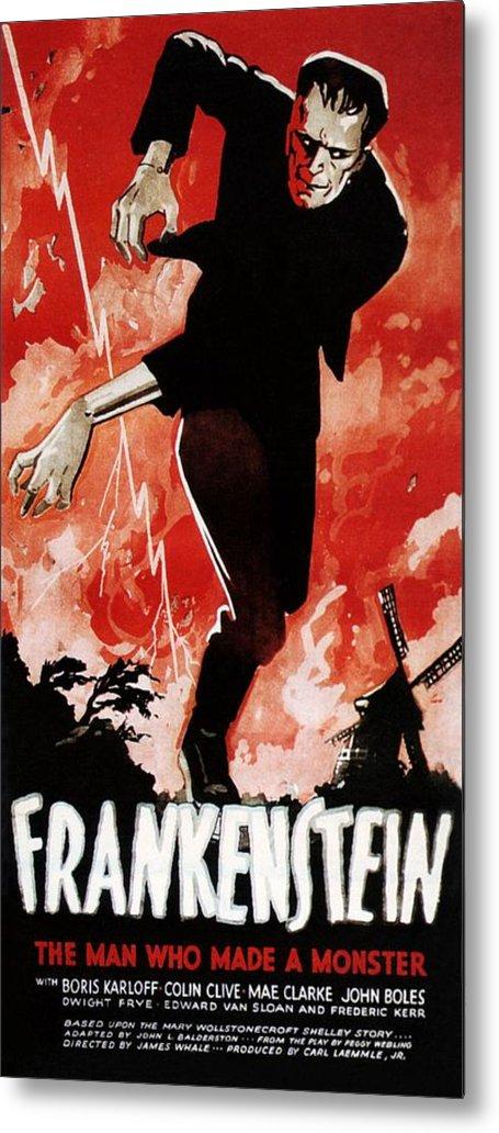 1930s Movies Metal Print featuring the photograph Frankenstein, Boris Karloff, 1931 by Everett